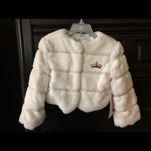 NWT Disney Princess Faux Fur Jacket
